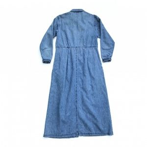 L.L. Bean Dresses - LL Bean Maxi Long Sleeve Blue Denim Dress :220